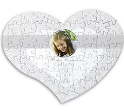 Puzzle magnetico cuore First communion