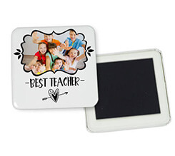 Magnete quadrato frigo Teacher heart