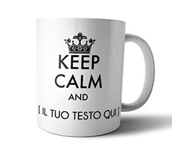 Tazza panoramica Keep calm