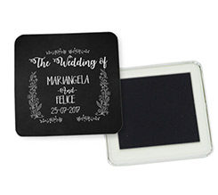 Magnete quadrato frigo Black wedding