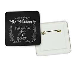 Spilla quadrata Black wedding
