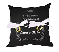 Cuscino portafedi Black wedding