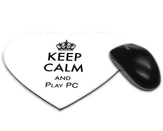 Tappetino mouse a cuore keep calm for Tappetino mouse fai da te