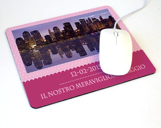 Tappetino mouse rettangolare pink chic for Tappetino mouse fai da te