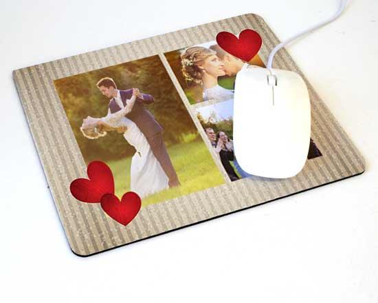 Tappetino mouse rettangolare love hearts for Tappetino mouse fai da te