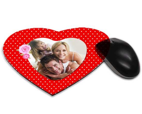 Tappetino mouse cuore cornice fiorata for Tappetino mouse fai da te