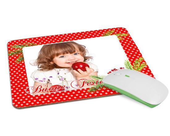 Tappetino mouse in legno rosso pois for Tappetino mouse fai da te