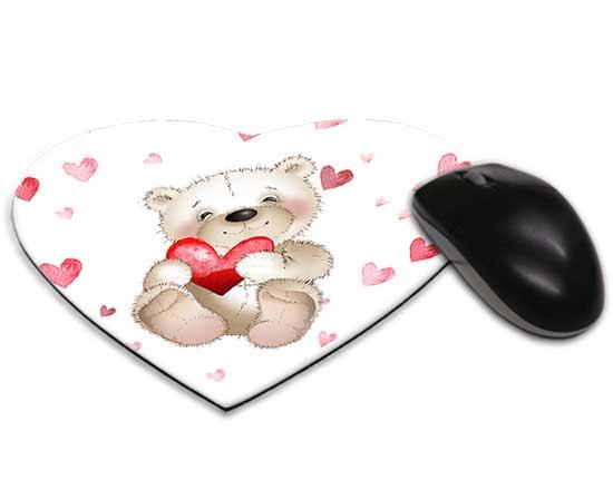 Tappetino mouse cuore teddy bear for Tappetino mouse fai da te