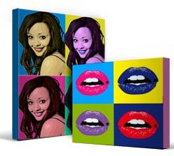 4 Riquadri Stampe Pop Art