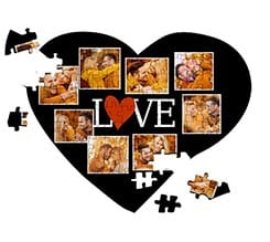 Puzzle cuore A4 Lovely collage