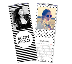 Calendario Multipagina Slim Black and white