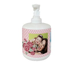 Dispenser sapone Rose con pois