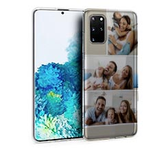 Cover trasparente Galaxy S20 Plus collage 3 riquadri