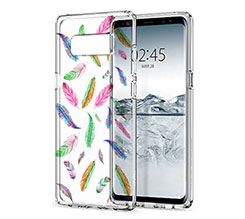 Cover Trasparente Galaxy Note 8 Piume
