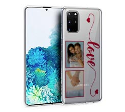 Cover trasparente Galaxy S20 Plus Love