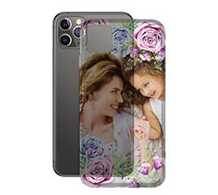 Cover Trasparente iPhone 11 Pro flowers