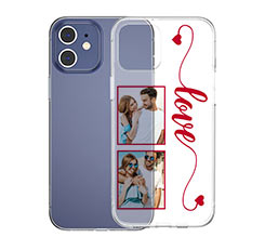 Cover trasparente iPhone love