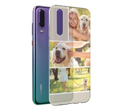 Cover trasparente Huawei P30 4 Collage