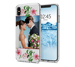 Cover Trasparente iPhone XS Max Flowers