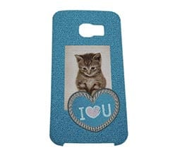 Cover Galaxy S6 Edge 3D Love Jeans
