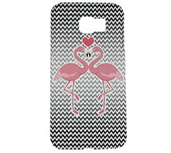 Cover Galaxy s6 3D Fenicotteri in love