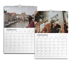 Calendario Multipagina A4 Base bianca