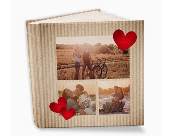 Album per s. valentino con impostazione collage