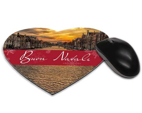 Mouse tappetino cuore Red Christmas