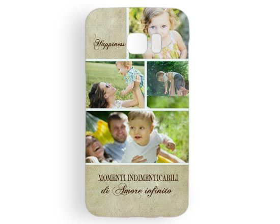 Cover Galaxy s7 Edge 3D Beige collage