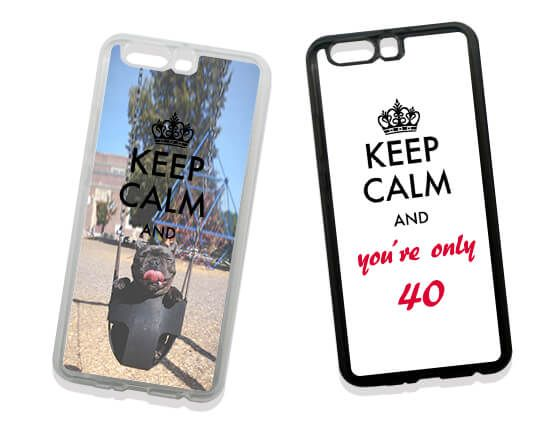 Cover in Silicone Huawei P10 Plus Keep Calm