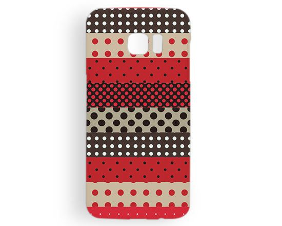 Cover Galaxy s7 Edge 3D Pois rossi