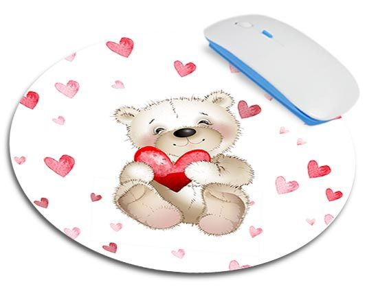 Tappetino mouse tondo Sweet teddy bear