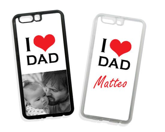 Cover in Silicone Huawei P10 Plus Love Dad
