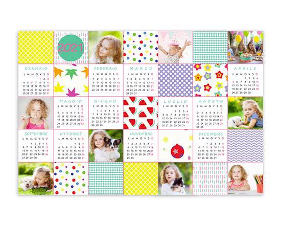 Calendario poster Colourful