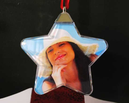 Stella Natale personalizzata con foto