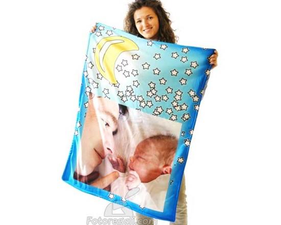 coperta con foto modello baby