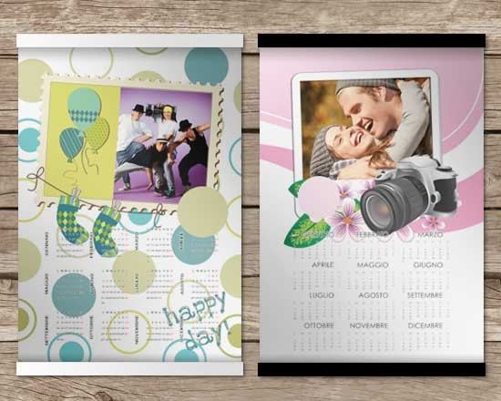 Calendario con foto su arazzo