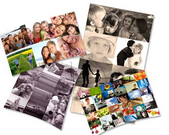 collage foto su poster