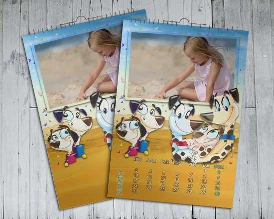 Calendario multipagina con foto