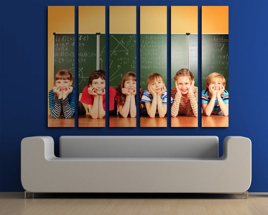 tela a pannelli con foto di bambini