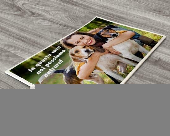Zerbino personalizzato con foto e testi