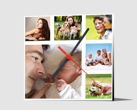 Orologio personalizzato con foto collage