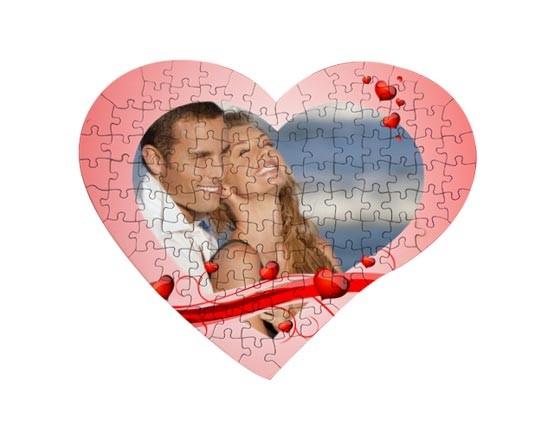 Puzzle cuore con foto
