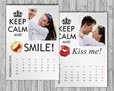 Calendario multipagina con scritta Keep Calm