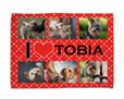 Coperta per cani I love collage