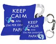 Portachiavi con cuscino con Keep Calm