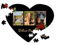 Puzzle cuore A4 Black Christmas