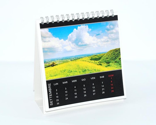 Calendario da tavolo Basic black