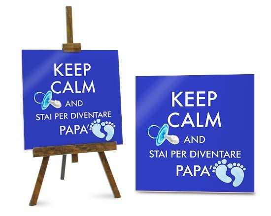 Mattonella Keep calm dad