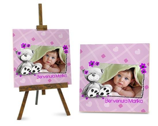 Mattonella classica orsetto rosa fotoregali